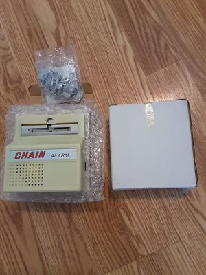 I have 2 chain Burglar alarm for Door insert AA Batteries brand new each $10 for Sale in Pawtucket, RI