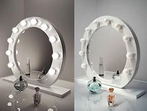 """Brand new $200 White 28"""" Vanity Mirror w/ 10 Dimmable LED Light Bulbs, Hollywood Beauty Makeup USB Outlet for Sale in Whittier, CA"""