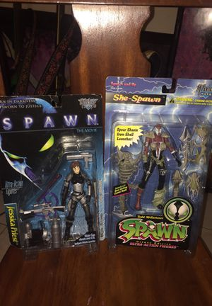SPAWN ACTION FIGURES SHE-SPAWN & JESSICA PRIEST FROM SPAWN THE MOVIE JESSICA PRIEST BECOMES SHE-SPAWN for Sale in Las Vegas, NV