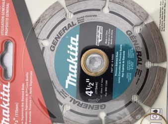 Brand New Makita 4-1/2 in. Segmented Rim General Purpose Diamond Blade, used for grinder for Sale in Alhambra,  CA