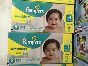 Pampers swaddlers diapers size 5 for Sale in Richardson, TX