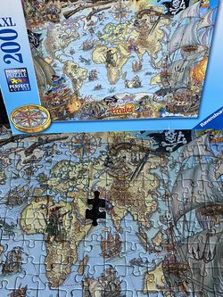 Ravensburger 200 Xxl Piece Pirate Map Puzzle (1 Piece Missing) for Sale in Beverly Hills,  CA