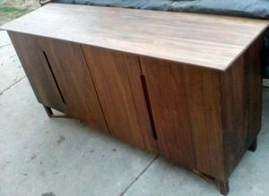 Unique solid wood entertainment center for Sale in Fresno, CA
