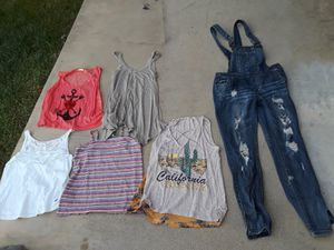 Lot of girls/teens teenagers clothes tops jeans overall dress leggings for Sale in Silverado, CA