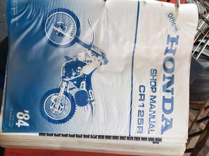 84 Honda CR125R shop manual for Sale in El Cajon, CA