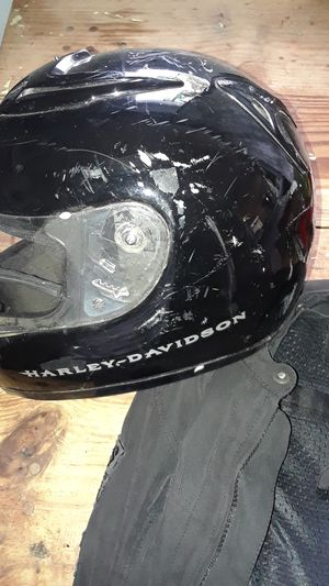 HARLEY DAVIDSON MOTORCYCLE HELMET,AND RIDING JACKET,BOTH LG. for Sale in Austin, TX