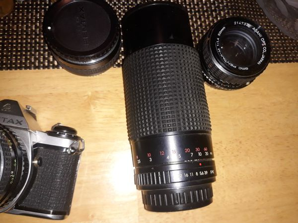 Pentax camera w/lenses