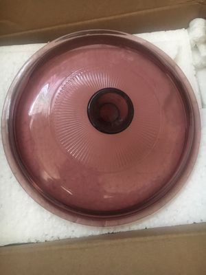Vintage Corning 1.5 liter lid (cranberry) for Sale in Corona, CA