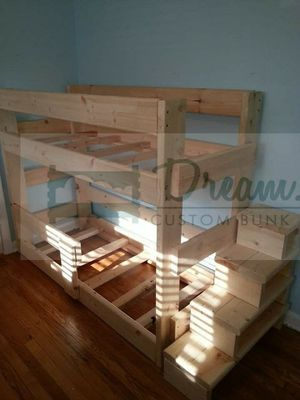 Toddler bunk bed fits crib matt for Sale in Portland, OR