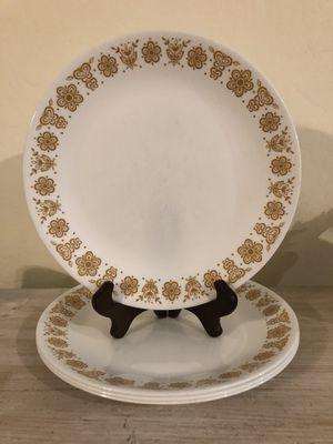 Corelle/Pyrex Butterfly Gold Dinner Plates for Sale in Gilbert, AZ