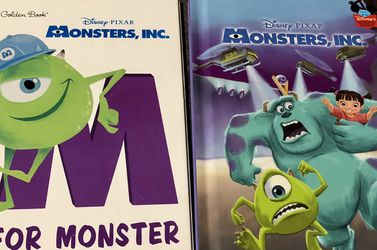 Set of 2 Childrens Books : Disney Pixar Monsters Inc for Sale in Pinellas Park,  FL
