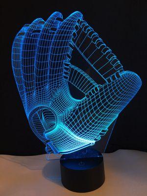 3D baseball glove LED Desk table night light illusion lamp for Sale in Windermere, FL