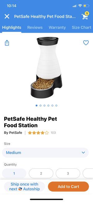 Medium food station for Dog or Cat for Sale in Vienna, VA