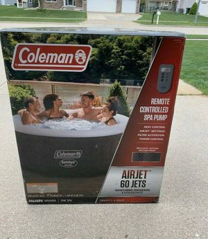 "Coleman Saluspa 71"" x 26"" Havana AirJet Inflatable Hot Tub with Remote Control, 2-4 person for Sale in Sandy Spring, MD"