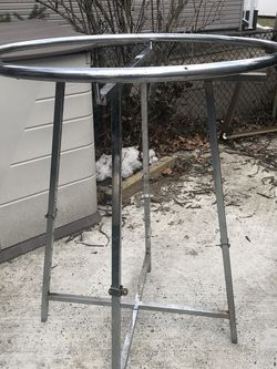 """Round Clothing Rack/Chrome/Decent Condition/Some Rust/36"""" Diameter for Sale in Merrick,  NY"""