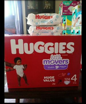 Huggies Little Movers Size 4!!READ THE ADDDDD💜👶💜 for Sale in Carson, CA