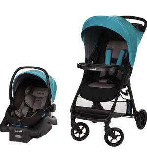 Safety 1st Smooth Ride Travel System with onBoard 35 Infant Car Seat, Lake Blue for Sale in Las Vegas, NV