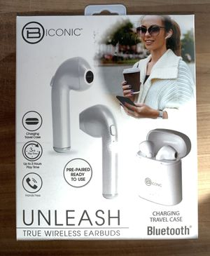 Biconic Wireless Earbuds Bluetooth Headsets, Bluetooth Earbuds, True Wireless Earbuds Stereo In-Ear Earpieces with 2 Built-in Mic for Sale in NO POTOMAC, MD