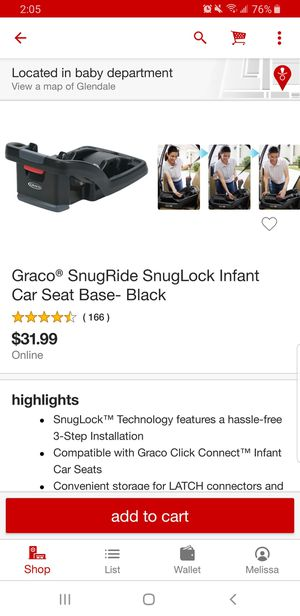 Graco click connect base for car seat. New in box. 25 Firm for Sale in Glendale, AZ