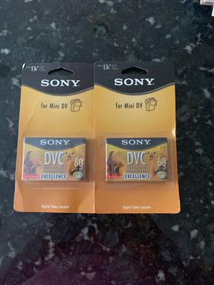 Sony mini DV tapes for camcorder for Sale in Dix Hills, NY