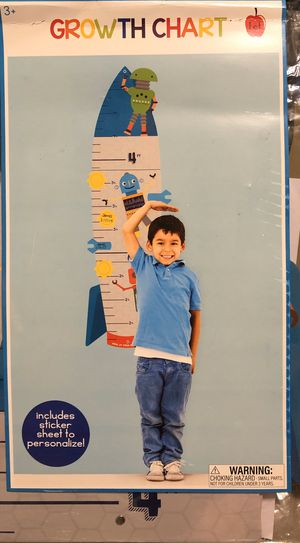Growth Chart with Sticker Sheet to Personalize for Sale in Brandon, MS