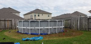 20 x 52 Intex pool with Upgraded Pump for Sale in Manvel, TX