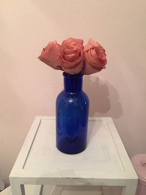 Vintage bottle with paper roses for Sale in NY, US