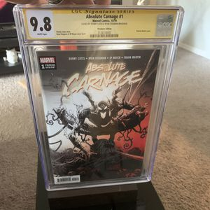 Absolute Carnage #1 CGC Signature Series for Sale in Tampa, FL