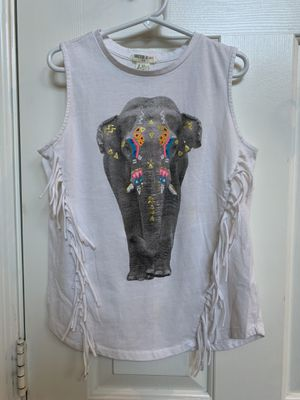 Forever 21, elephant tank top, fringe, size 7/8, tag says 11/12 for Sale in Glendale, AZ