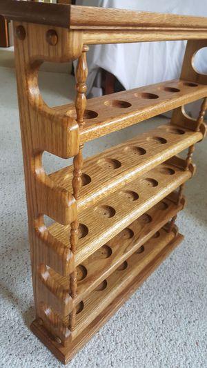 Clean nice well built oak shelves for Sale in Harrisonburg, VA