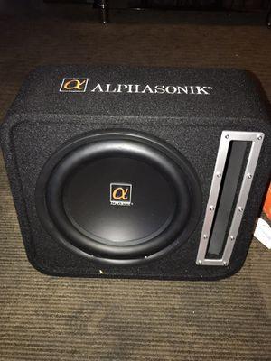 """Alphasonik 12"""" speaker & PM1600DE class D block amplifier for Sale in Oakland, CA"""