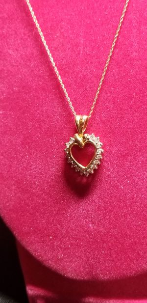 14K GOLD AND DAIMOND NECKLACE for Sale in Fairfax, VA