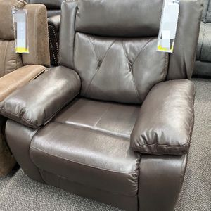 New Motion Recliner Chair Leather Gel Brown for Sale in Diamond Bar, CA