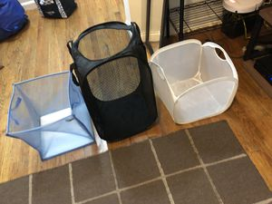 Three foldable containers for laundry, storage for Sale in New York, NY