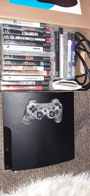 Ps3 with 22 games one controller $120 for Sale in Lawrence, MA