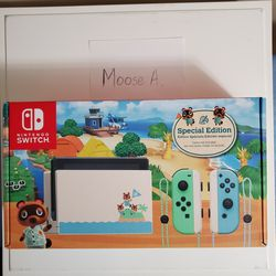 Nintendo Switch Animal Crossing Edition for Sale in Silver Spring,  MD