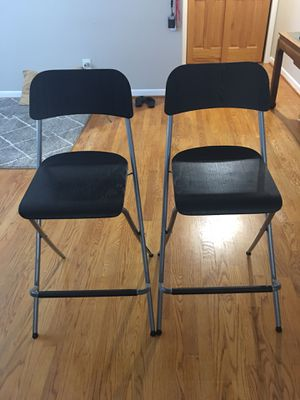 """Counter height foldable bar stools 36"""" for Sale in Arlington, VA"""