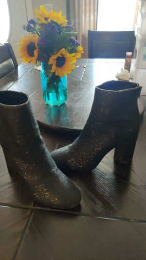 Sparkly black booties size 9.5 for Sale in City of Industry, CA