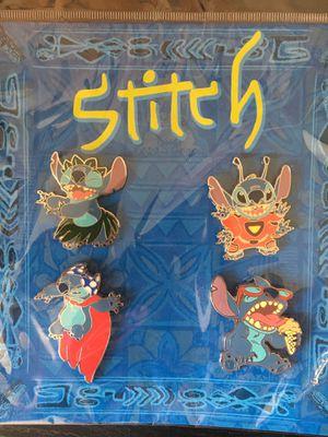 Stitch 4 Piece Disney Pin Set $30 OBO for Sale in La Mirada, CA
