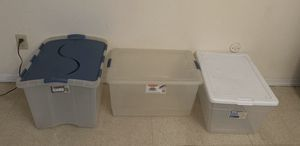 Set of 3 plastic storage containers for Sale in East Los Angeles, CA