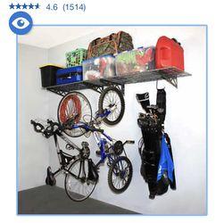 SafeRacks Wall Shelf Combo Kit, Two Shelves, Four Deck Hooks for Sale in Norco,  CA
