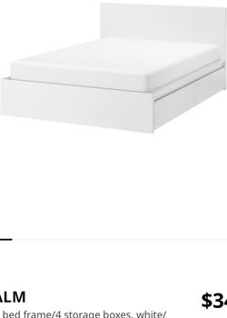 IKEA King Sized Bed Frame With Storage for Sale in Berea,  OH