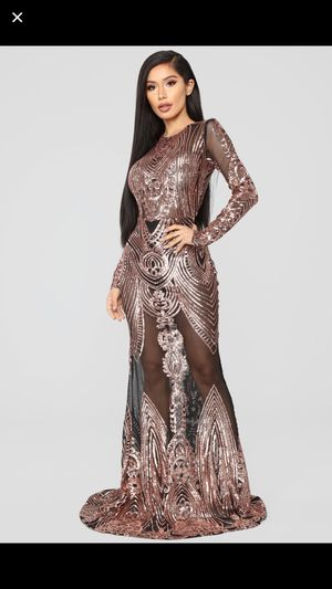 Rose Gold Sequin Dress size large for Sale in Castro Valley, CA