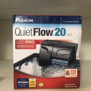 Aquarium Power Filter Quiet Flow LED Pro 30 Gal for Sale in Los Angeles, CA
