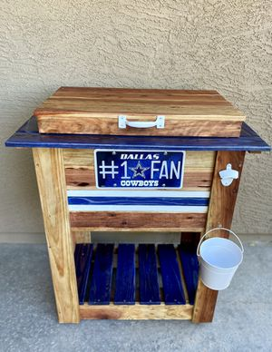 Cowboys wooden cooler for Sale in Goodyear, AZ