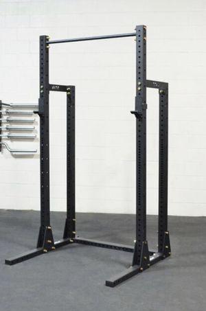Titan X3 Half Rack / Squat Rack w/ Extra Set Of Sandwich J-Hooks & Weight Storage for Sale in Davenport, FL