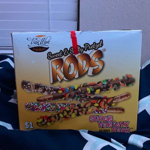 Pretzel Rods, Beef Jerkey Sticks, And Chocolate Bars! for Sale in Turlock, CA