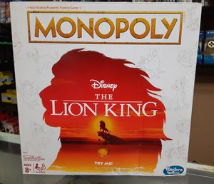 Lion king Monopoly for Sale in Pasadena, TX