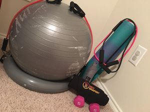 Asoalpha ball, yoga mat, hot shaper, & bands for Sale in San Antonio, TX