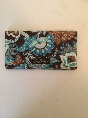 Retired Vera Bradley Java Blue and Brown Paisley Checkbook Cover for Sale in Warner Robins, GA